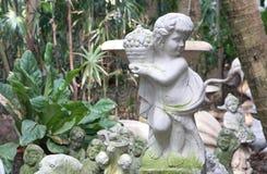Angle stone sculpture garden decoration Stock Photo