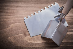 Angle surfacer and putty knife Stock Photography