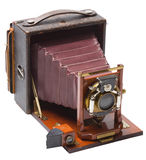 Angle view of antique camera Royalty Free Stock Image