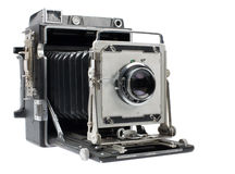 Angle view of antique camera Royalty Free Stock Images
