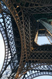 Angle view below Eiffel Tower Royalty Free Stock Photography