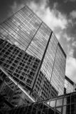 Angle View Of Commercial Building stock image