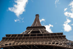 Angle view of Eiffiel tower royalty free stock image