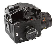 Angle view of medium format camera Stock Images