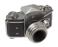 Angle view of old camera Royalty Free Stock Images