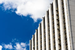 Angle view and perspective of a modern building. In Moscow stock image