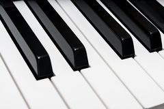 Angle view of a piano keyboard Stock Image