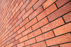 Angle view red brick wall Royalty Free Stock Photo