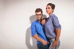 Angle view of a young fashion couple Stock Photo