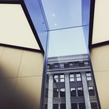 Angle Views of Window and Light. San Francisco Downtown Market Street Evening stock photography