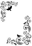Angle vignette with ornament and birds Royalty Free Stock Photography