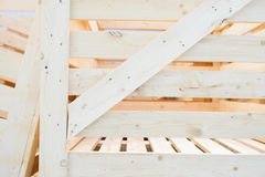 Angle of Wooden Case Stock Photography