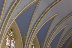 Angled голубой подстенок летания Стоковое Изображение RF