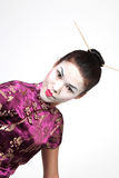 angled женщина гейши Стоковые Фотографии RF