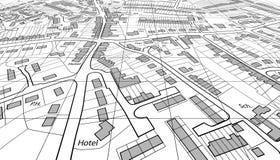 angled карта Стоковое Фото