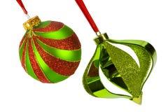angled рождество орнаментирует 2 Стоковые Фотографии RF