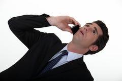 Angled съемка бизнесмена стоковое изображение rf