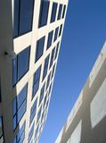 Angled alley view. Between office buildings Royalty Free Stock Photo
