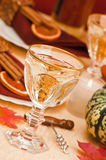 Angled Autumn Table Setting Stock Photography