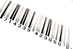 Angled Bar Code With Shallow Depth of Field 2 Stock Photos