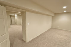 Angled Basement Interior Royalty Free Stock Image