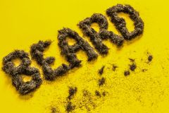 Angled beard sign made of real hair Royalty Free Stock Photos