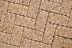 Angled Block Paving Royalty Free Stock Photos