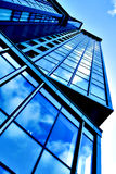 Angled business skyscraper Royalty Free Stock Images
