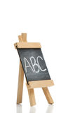 Angled chalkboard Stock Images