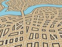 Angled city vector illustration