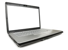 Angled Classic Laptop. Wide angled classic laptop isolated with clipping path over white background Stock Images