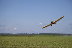 Angled Crop Dusting Plane Royalty Free Stock Photo