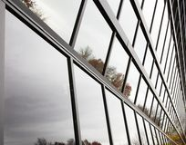 Angled Glass Wall Royalty Free Stock Images