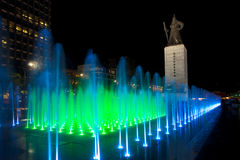 Angled Green Fountain Yi Sun-Sin Statue Stock Photography
