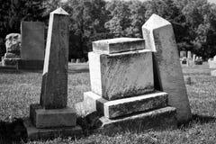 Angled Headstones Royalty Free Stock Photo