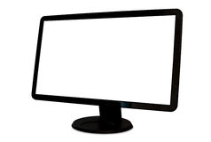 Angled isolated blank wide screen computer monitor Stock Photography