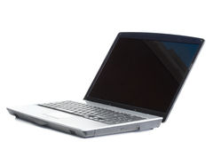 Angled laptop Royalty Free Stock Images