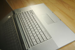 Angled Laptop Image on Desk Royalty Free Stock Images