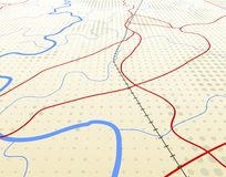 Angled map Royalty Free Stock Photography