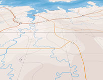 Angled map Stock Images