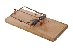 Angled mouse trap Stock Photo