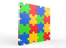 Angled multi-color puzzle Stock Photos