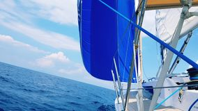 Gennaker on sailboat royalty free stock photos