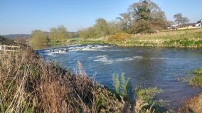180° angled photo of a weir Royalty Free Stock Images