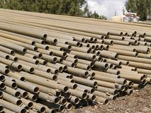 Angled Pipes. Angle shot of metal irrigation pipes Stock Photography