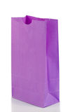 Angled purple paper bag Royalty Free Stock Images