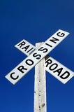 Angled Railroad Crossing Royalty Free Stock Photos
