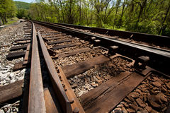 Angled Railroad Track Royalty Free Stock Image