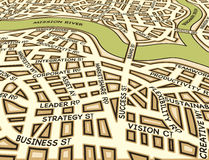 Angled success map Stock Photography