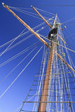 Angled Tall Ship Yards Royalty Free Stock Photos
